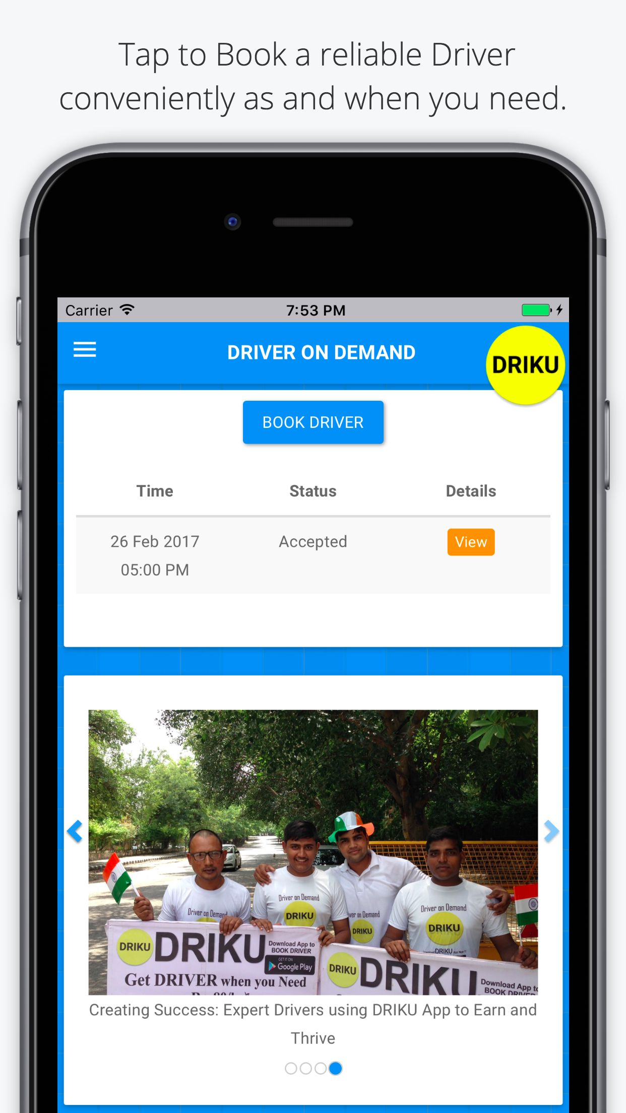 DRIKU Driver on Demand